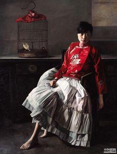 Chinese contemporary painting Li Wentao ----BTW, Please Visit: http://artcaffeine.imobileappsys.com
