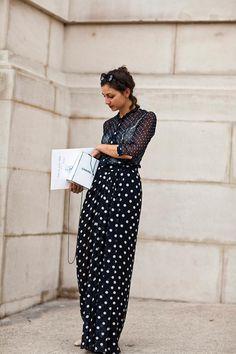 Polka dots in Paris. (The Sartorialist)