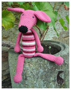 Your place to buy and sell all things handmade Knitting Yarn, Pink Grey, Red And White, Black, Dinosaur Stuffed Animal, Fiber, Toys, Animals, Facebook