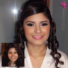 #MakeoverMonday never looked better...  A #beforeandafter look of our lovely bride Liz on her very special day  #makeuptransformation #weddinglook #makeupandhair by Jazmin and Christopher of #kayanabeauty #kayanabeautytrends