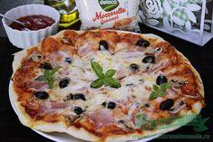 Pizza Capriciosa.Cum se face pizza capriciosa.Pizza de casa cu mozzarella Delaco. Cea mai buna reteta pizza capriciosa. Pizza de casa. Vegetable Pizza, Kids Meals, Quiche, Mozzarella, Vegetables, Breakfast, Food, Home, Pie
