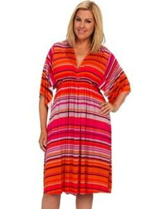 Rachel Pally Plus Size Knee Length Caftan - I often shy away from color but this is too fabulous!