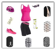 Bicyle Run by renee-eason on Polyvore featuring Sugoi, Pearl Izumi, NIKE, Rocco Originals and blomus