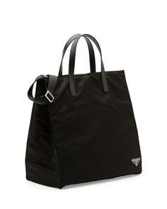 2f047a02b7 ... sale prada mens nylon tote bag black nero eur 734 0a9ee 018b2