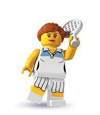 Lego Tennisspieler Minifigures Serie 3 Nr. 10 + BPZ Tennis Player