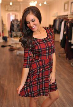 Dottie Couture Boutique - Plaid Dress, $46.00 (http://www.dottiecouture.com/plaid-dress/)