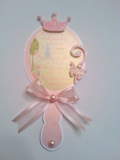 Princess Crown Mirror Invitation by CreativeMoments4You on Etsy