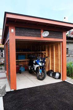 木製バイクガレージ