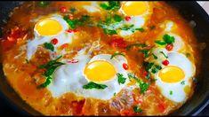 Egg Breakfast   تخم مرغ  با بادنجان رومی How To Make Shakshuka, Easy Shakshuka Recipe, Shakshuka Recipes, Dinner Recipes For Kids, Healthy Dinner Recipes, Diet Recipes, Middle Eastern Dishes, Middle Eastern Recipes, Food Shows