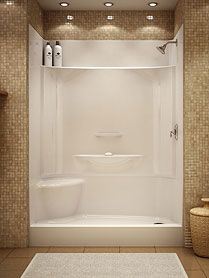 full size walk in shower with seat