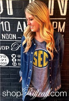 SEC Teeshirt for Game Day Outfit from shop riffraff!