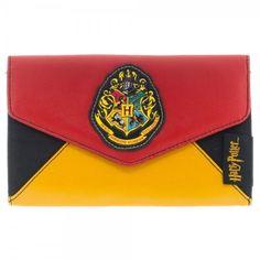 Harry Potter HOGWARTS CREST Envelope Style WALLET @ niftywarehouse.com #NiftyWarehouse #HarryPotter #Wizards #Books #Movies #Sorcerer #Wizard