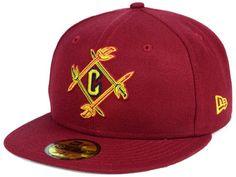 a9d2aba18 Cleveland Cavaliers New Era NBA Combo Logo 59FIFTY Cap