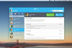 Skype Redesign by Mike Clarke