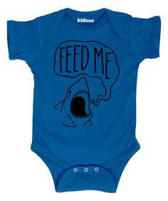 Look what I found on #zulily! Royal Blue 'Feed Me' Bodysuit - Infant by Cotton Jungle #zulilyfinds
