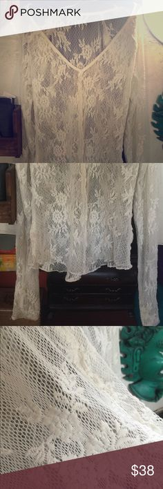 FP Delicate Lace Hently English rose garden vibe. Worn once, great condition. Free People Tops
