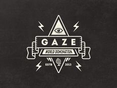 Dribbble - Gaze - A random badge by Mathias Temmen