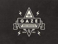 Dribbble - Gaze - A random badge by Mathias Temmen
