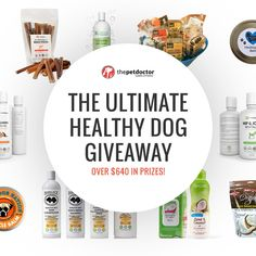 The Ultimate Healthy Dog Giveaway ($640 in prizes).  http://swee.ps/cDpVXvCpg