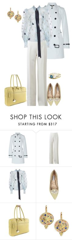 """""""Pale"""" by eva-kouliaridou ❤ liked on Polyvore featuring Burberry, Michael Kors, Lucy Choi London, Ella Valentine and Temple St. Clair"""