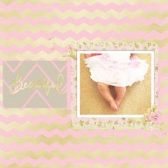 A Sparkleheart and her skirt digital scrapbooking layout using the Shine Bundle at Pixel Scrapper