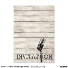 150 best invitations images on pinterest vip lyrics and text messages rustic festival wedding personalized invitation stopboris Images