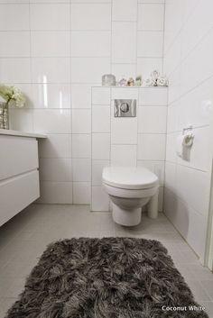Coconut White: Wc:n uusi harmaa, pehmeä matto!