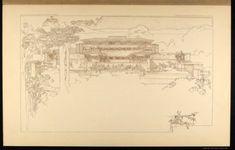 """Frank Lloyd Wright """"Wasmuth Portfolio, 1910"""