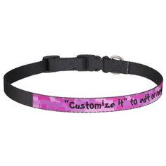 #Pink Camo Pet Collar - #petcollar #petcollars #puppy #dog #dogs #pet #pets #cute #doggie #dogcollar #dogcollars