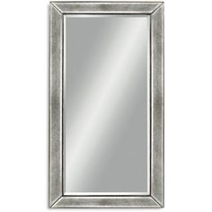 """Bassett Mirror Beaded Mirror, 36"""" x 48"""" (24.945 RUB) ❤ liked on Polyvore featuring home, home decor, mirrors, silverleaf, silver leaf mirror, wood home decor, wood mirror, basset mirror company and beaded mirror"""