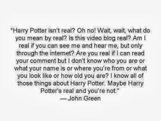John Green on Harry Potter.