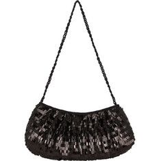 Light up the room with this sequined hobo handbag.