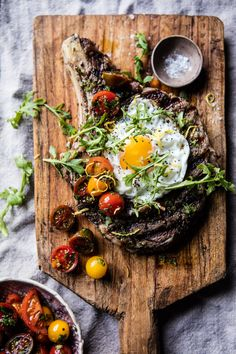 Tuscan Steak with Marinated Cherry Tomatoes - almost as simple as adding salt and pepper, but about a million times more flavorful! @ halfbakedharvest.com