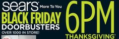 We now know the Sears hours for Black Friday. They will open on Thanksgiving at until for Black Friday. Black Friday Shopping, Coupon Binder, Coupons, Hot, Coupon