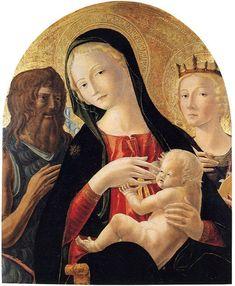 Neroccio di Bartolomeo de' Landi - Madonna col Bambino tra San Giovanni Battista e Santa Caterina d'Alessandria (1478-1480)