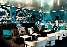 The Den, on ivy's second floor, is all about sumptuous Art Deco inspired luxury. Think silk ottomans, dramatic high backed armchairs, an opulent mirror bar and velvet turquoise draping.  The Den is the perfect event space for cocktail parties, networking events and charity fundraisers.