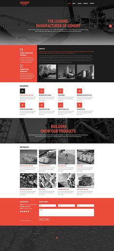 Cement Company #website #template. #themes #business #responsive