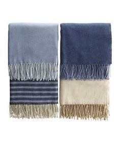 All Seasons Throw: Looking for an extra layer of warmth? Keep track of whose is whose with this fringed brushed cotton blanket that can be personalized at no extra charge.