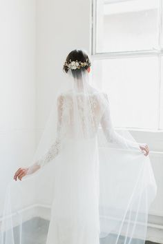 The Rosella chapel veil with blusher layer offers a lean and streamlined…