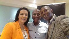 Leanne Manas, Moses Gama and Isaac Mavuso at SABC 05 Sept 16