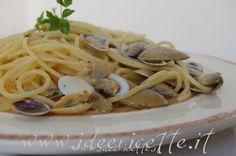 Particolare presentazione spaghetti con le telline