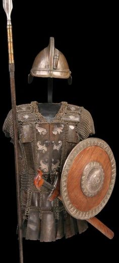 Moro (Philippines) warriors armor, brass European inspired helmet, mail and plate shirt, shield. European American, American War, Battle Dress, Philippines Culture, Culture Clothing, Armor Clothing, Aboriginal Culture, Medieval Weapons, Knight In Shining Armor