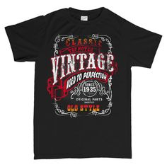Vintage Aged To Perfection 1935 - Distressed - 80th Birthday T-shirt