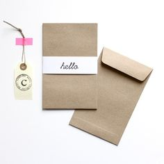 """2,65 € 5 Enveloppes en kraft épais.11,3 x 17,8 cm Idéales pour les cartes postales de la boutique.(Pour ajouter au panier, cliquer sur """"Add to Cart"""")."""