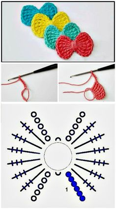 52 Free Crochet Bow Patterns : Free Crochet Bow Tie – Step By Step Instructio. - 52 Free Crochet Bow Patterns : Free Crochet Bow Tie – Step By Step Instructions – 52 Free Croc - Crochet Bows Free Pattern, Crochet Bow Ties, Crochet Hair Bows, Crochet Hair Accessories, Crochet Headband Pattern, Crochet Motifs, Crochet Flower Patterns, Crochet Diagram, Crochet Flowers