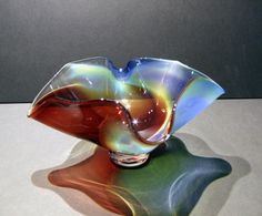 Beautiful Northern Lights Bowl by artist Thomas Maras. Fine Art Blown Glass at Piper Custom Framing & Fine Art Gallery in Sioux Falls, South Dakota.
