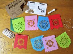 Ensarta tu propio papel picado. | 41 actividades del Día de los Muertos, para toda la familia