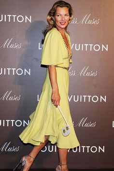 Kate Moss in Louis Vuitton at the Louis Vuitton 'Timesless Muses' exhibition of the Tokyo Station, 29 August 2013