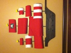 Homemade pirate ship for baby boy's room