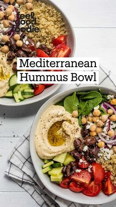 Lunch Recipes, Whole Food Recipes, Vegetarian Recipes, Dinner Recipes, Cooking Recipes, Healthy Recipes, Mediterranean Diet Recipes, Mediterranean Bowls, Healthy Snacks
